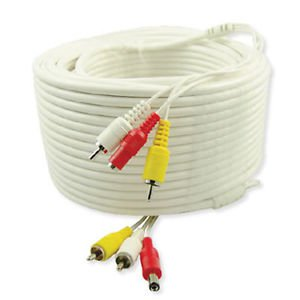 300 Ft super grade RCA cable with power cord plus 2 RCA Female to BNC Male Conne