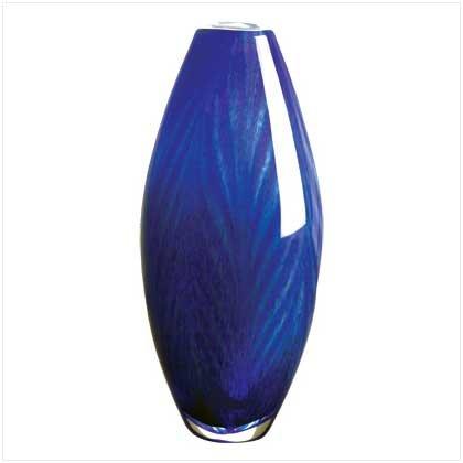 Tonal Blue Glass Vase