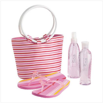Strawberry Bath Set with Tote Bag