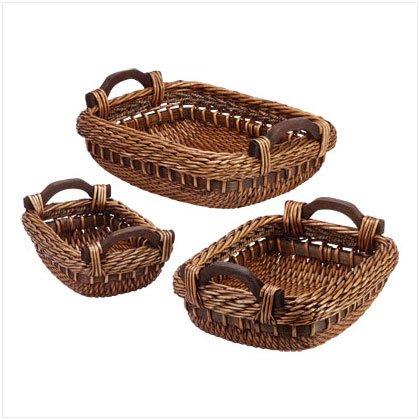 3 Piece Willow Baskets
