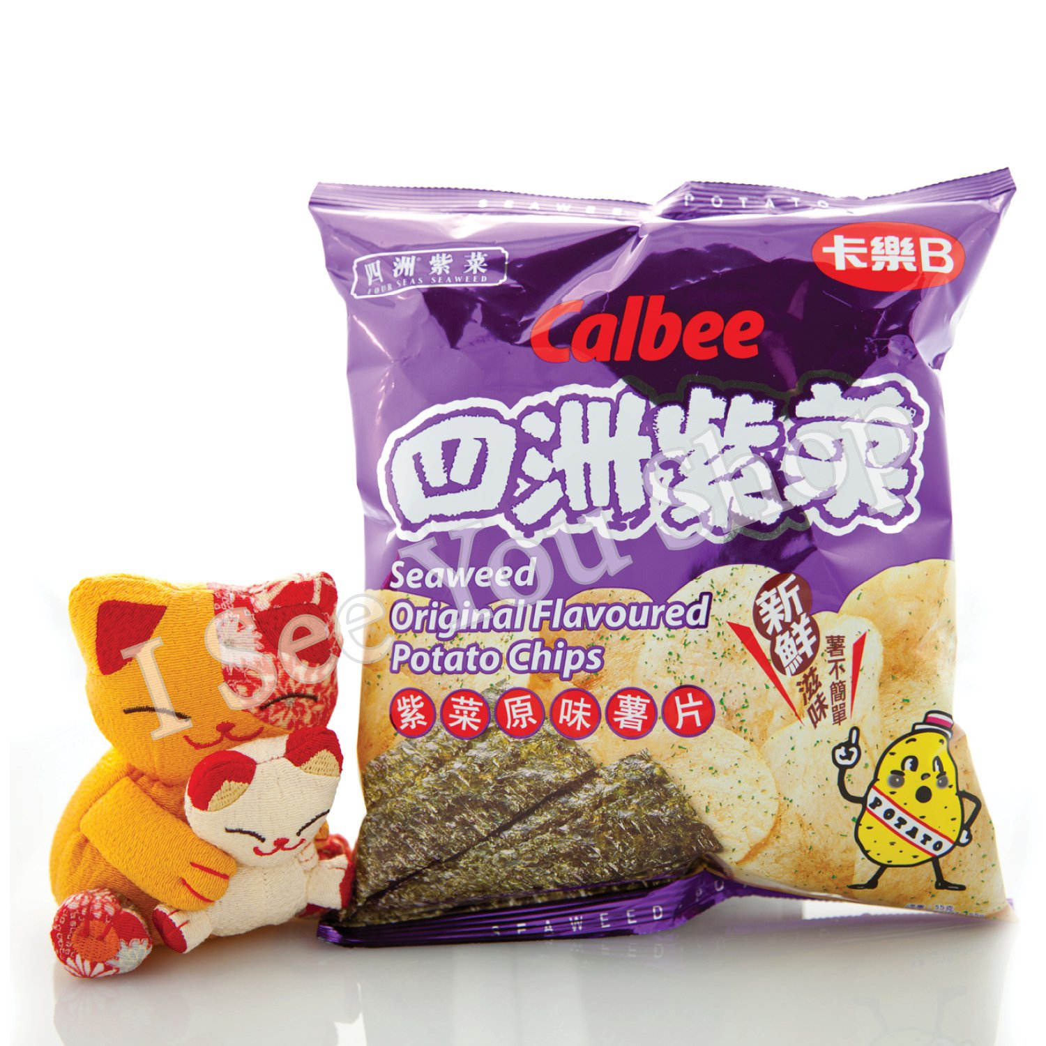 ��B �洲紫���� Calbee Four Seas Seaweed Original Flavored Chips 55G