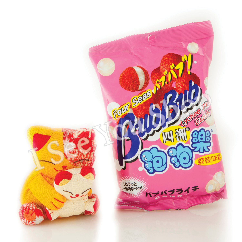 �洲泡泡�(����) 80g Four Seas Bub Bub Lychee Flavour Candy 80g