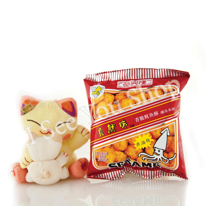��� ��魷�� Sze Hing Loong Sesame Baked Cuttlefish Snack Puffs 16g