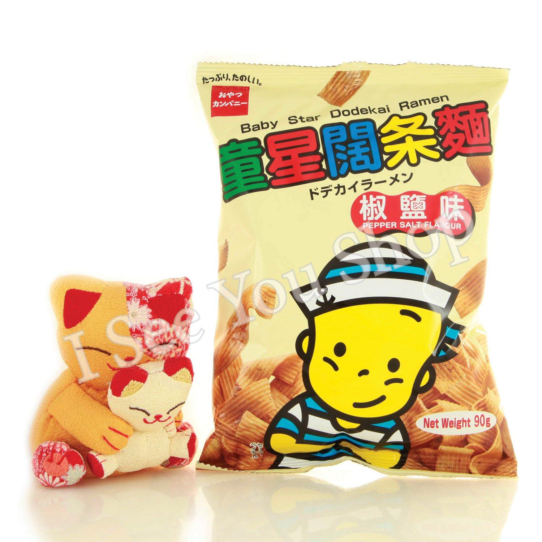 童���麵�鹽� 90g Baby Star Dodekai Ramen Pepper Salt Flavour 90g