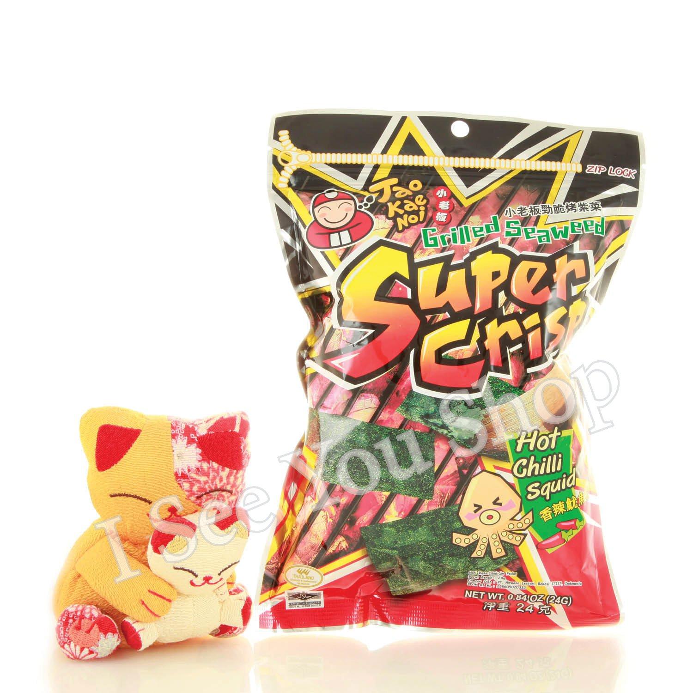 ��� �辣魷�� 24g Tao Kae Noi Super Crisp Grilled Seaweed Hot Chilli Squid 24g