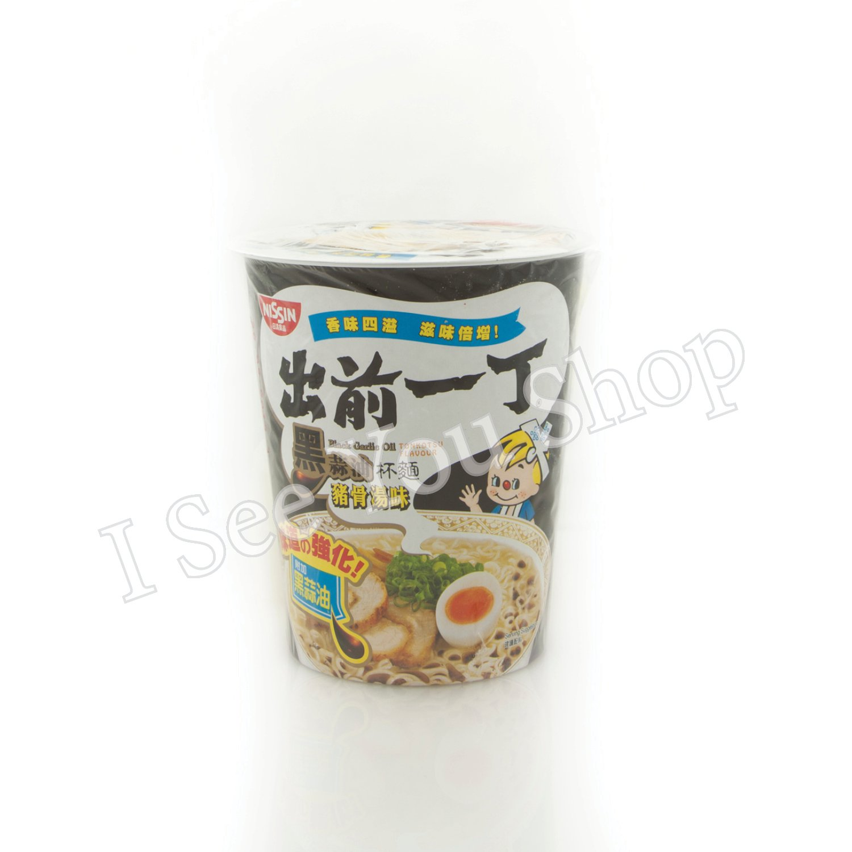 ���� ��油豬骨湯�麵 Nissin Black Garlic Oil Tonkotsu Flavor Cup Noodles 75g