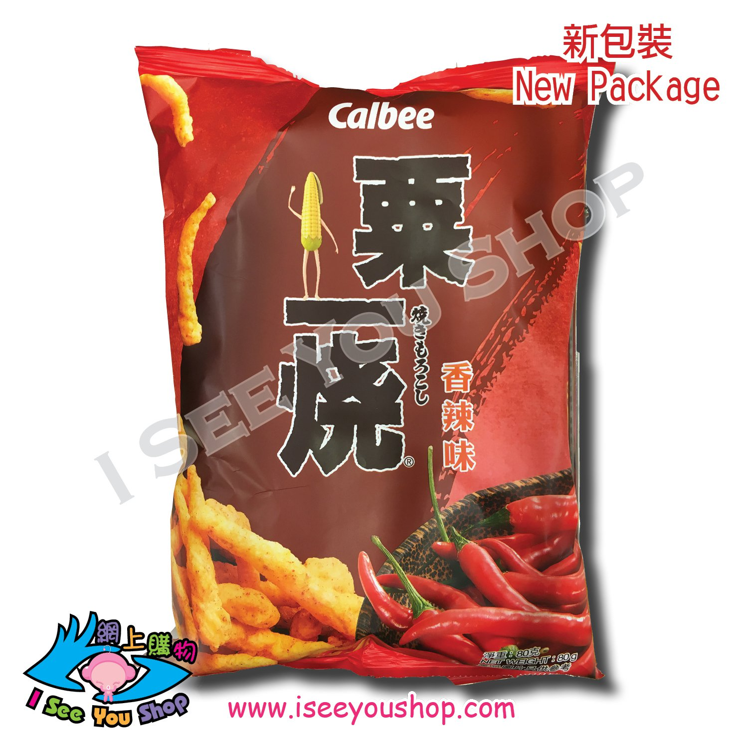 ��B ��� �辣� Calbee Hot & Spicy Flavored Grill-A-Corn 80G