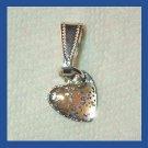 Sparkling Tiny Glitter HEART Sterling Silver Pendant