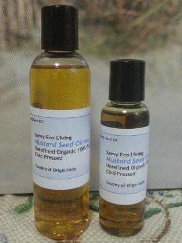 Mustard Oil 100% Pure ,Unrefined, Organic,Cold Pressed Great Quality 2oz