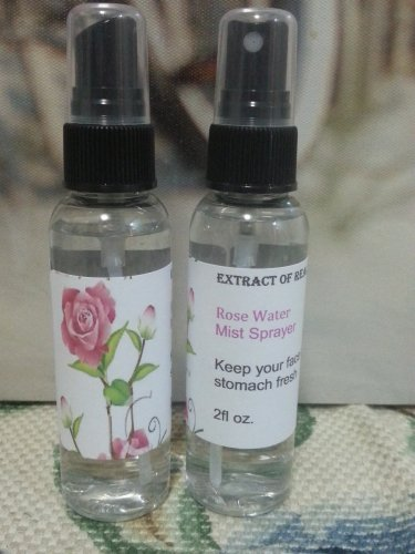 Rose Water 100% Pure,Edible ,Extract Of Real Roses Mist Spray Bottle 2oz