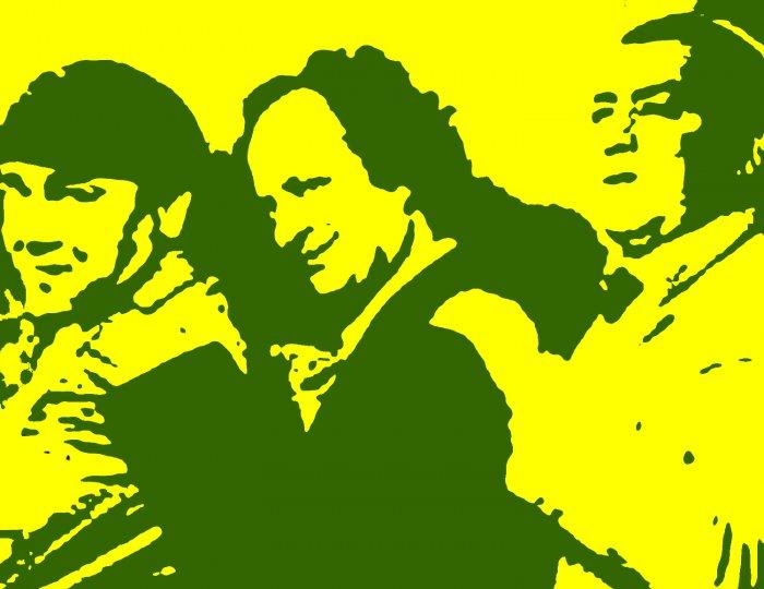 The Three Stooges Acylic Pop Art Painting