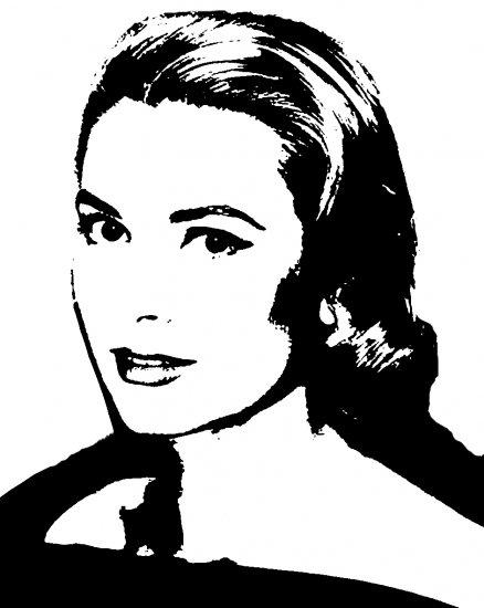 Grace Kelly Acylic Pop Art Painting