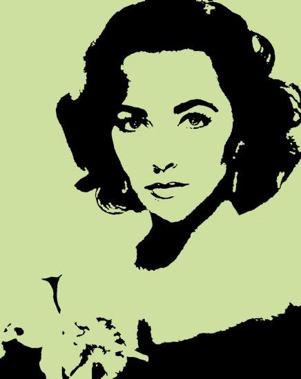 Elizabeth Taylor Acylic Pop Art Painting