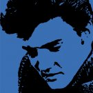 Elvis in Blue Acrylic Pop Art Painting