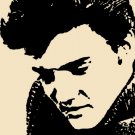 Elvis in Peach Acrylic Pop Art Painting