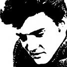 Elvis in White Acrylic Pop Art Painting