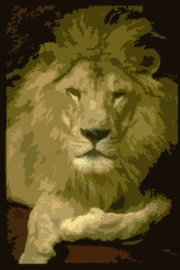 Lion Acrylic Pop Art Painting