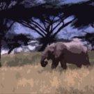 An Elephant's Life Acrylic Pop Art Painting
