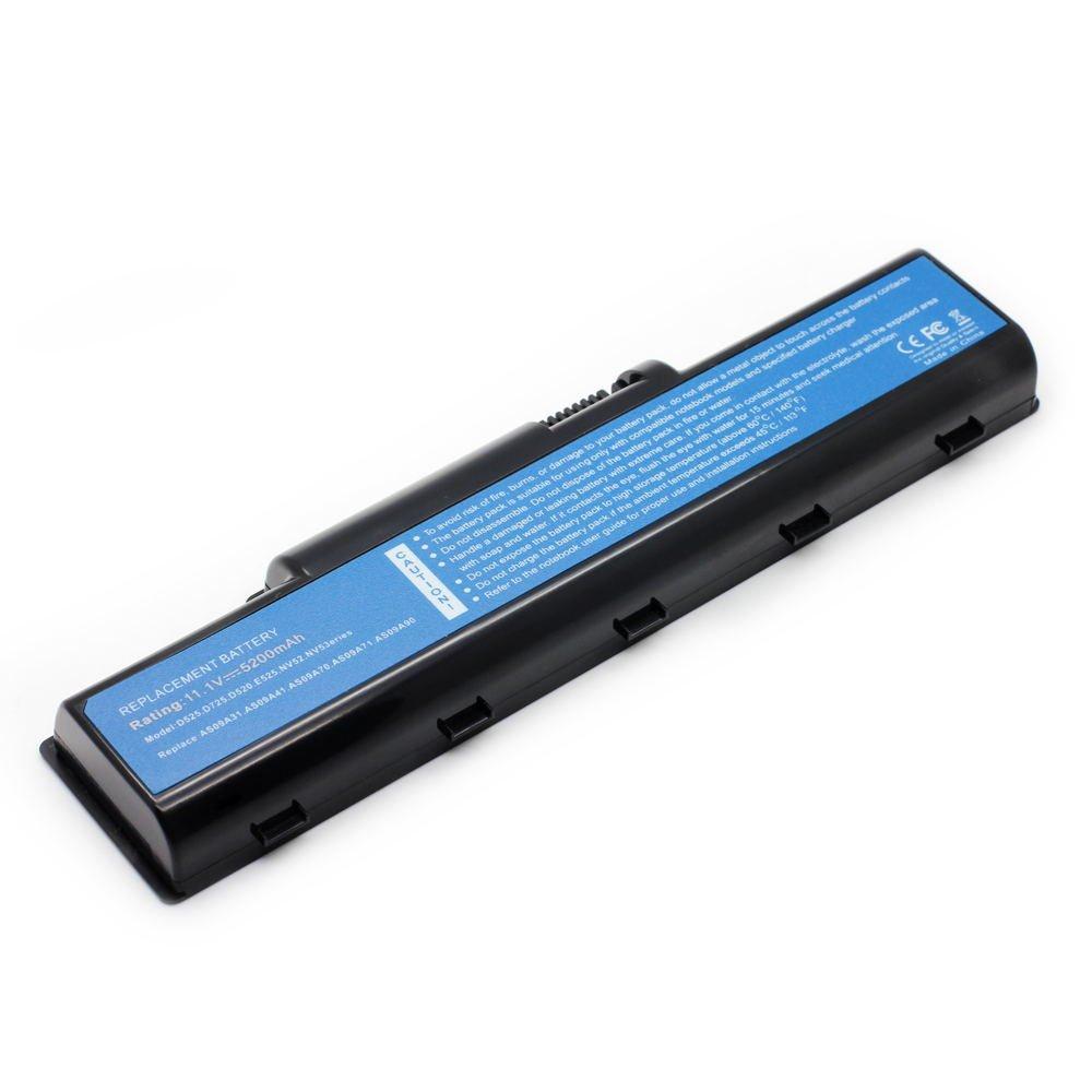 AC-D525 11.1V 5200 6cell Laptop Battery for Acer L09M6Y21, L09S6Y21, MS2274 101-020B1-22023