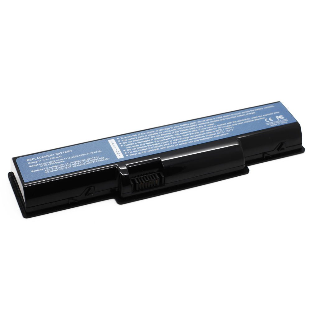 AC-4710 11.1V 5200 6cell Laptop Battery for Acer AK.006BT.020, AK.006BT.025, AS07A31 101-02121-22023
