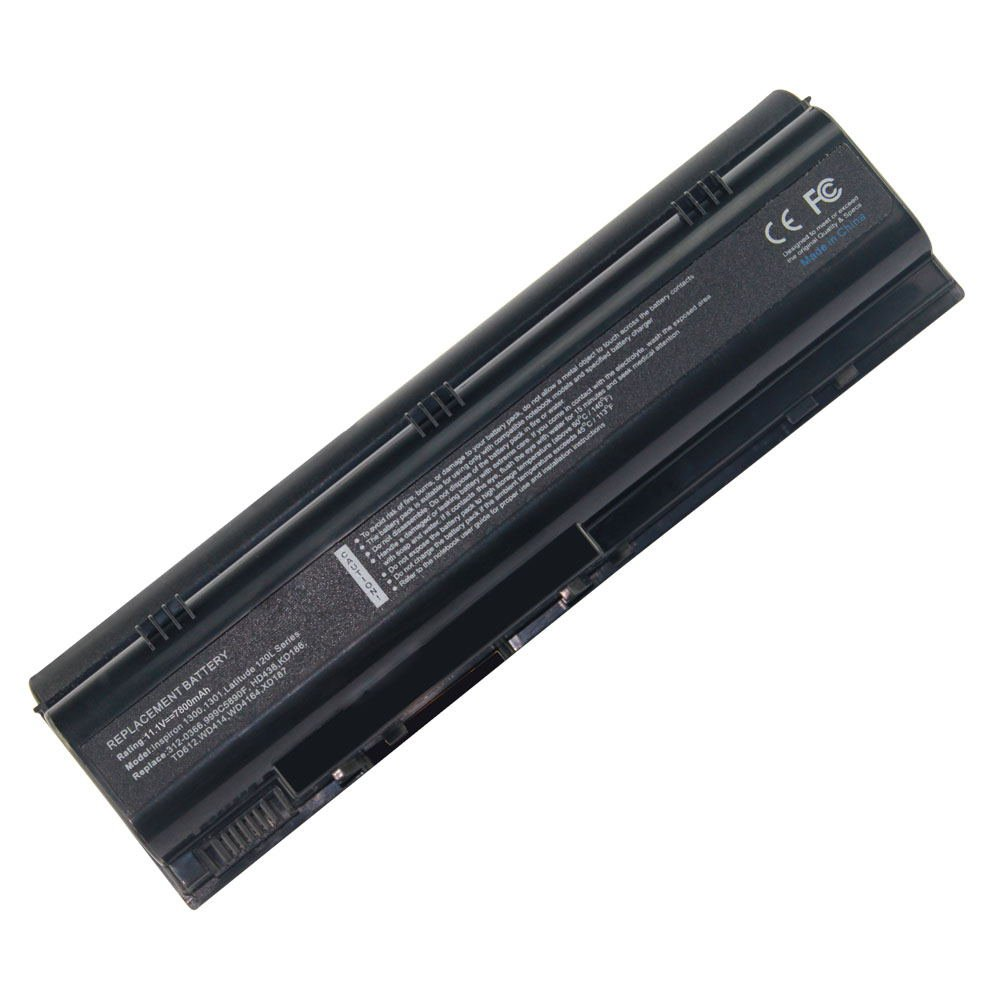 DE-D1300 11.1V 7800 9cell Laptop Battery for DELL XD187, YD120, YD131, UD535 101-04066-25023