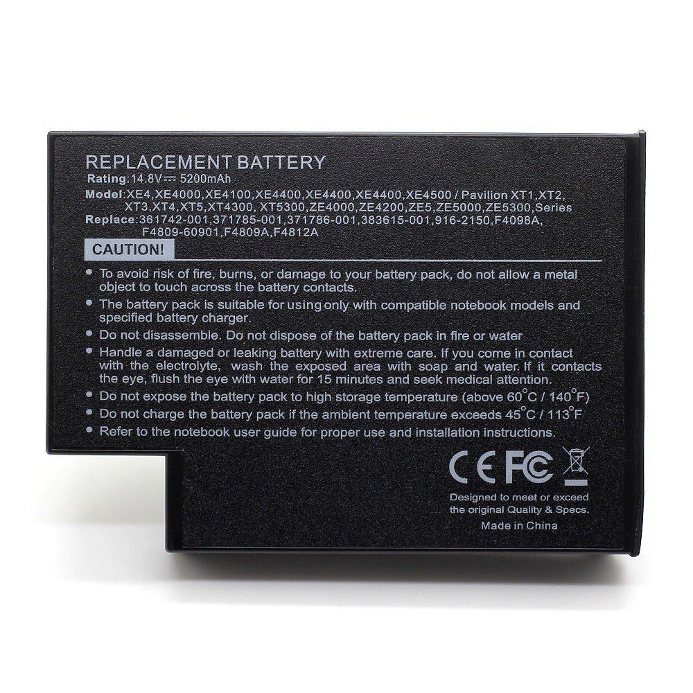 HQ-F4809 14.8V 5200 Laptop Battery for HP 113955-001, 294038-182, 319411-001 101-05060-45023