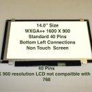 """14"""""""" WXGA+ Matte Laptop LED Screen For IBM 04W3921"""