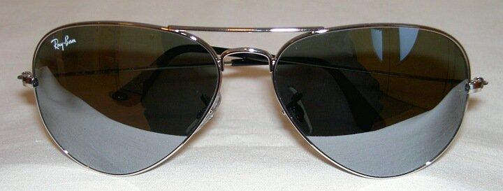 Ray Ban  AVIATOR Sunglasses Silver Frame  RB 3025 003/40 Mirror Lenses 62mm