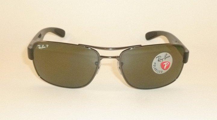New  RAY BAN  Sunglasses  Gunmetal Frame  RB 3522 004/9A  Polarized Lenses  64mm