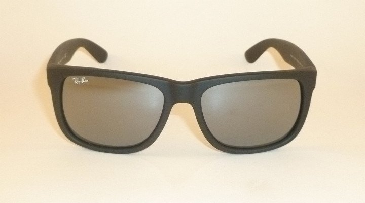 New RAY BAN Justin Sunglasse Matte Black Rubber RB 4165 622/6G  Grey Mirror 51mm