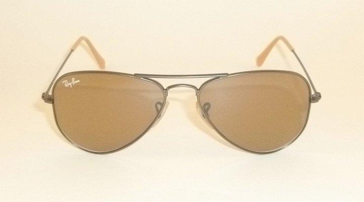 New RAY BAN Sunglasses Small Aviator  Matte Gunmetal  RB 3044 029/53  Brown Lens