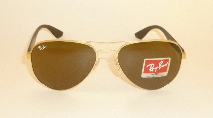 New  RAY BAN  Sunglasses  Matte Gold Frame  RB 3523 112/73  Brown Lenses