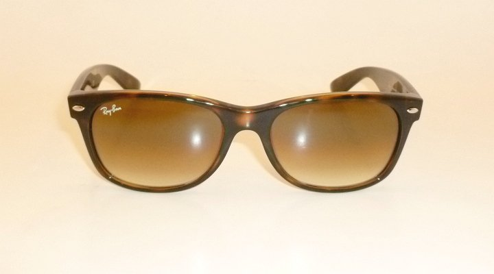 New RAY BAN Sunglasses Brown WAYFARER  RB 2132 710/51  Glass Gradient Brown 55mm