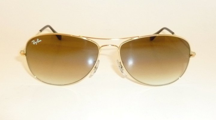 New RAY BAN Sunglasses  COCKPIT Gold  RB 3362 001/51  Brown Gradient Lenses 59mm