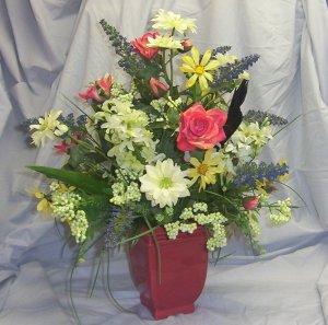 Wonderful Wildflower Silk Floral Arrangement!