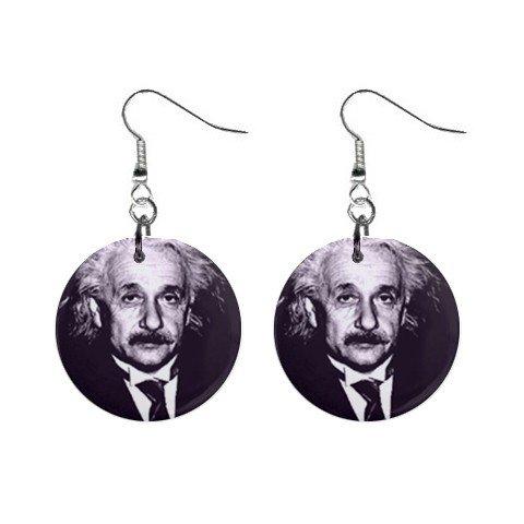 Albert Einstein Dangle Earrings Jewelry 1 inch Buttons 12240240