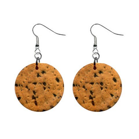 Delicious Cookie Dangle Earrings Jewelry 1 inch Buttons 12240246