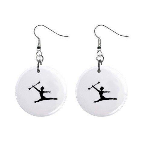 Baton Twirler #2 Dangle Earrings Jewelry 1 inch Buttons 12247246