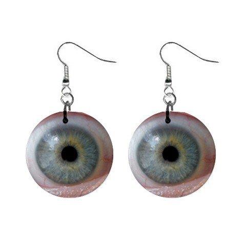 Staring Eye Dangle Earrings Jewelry 1 inch Buttons 12247273