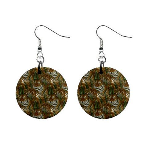 Tigers Tigers Tigers Dangle Earrings Jewelry 1 inch Buttons 12176334
