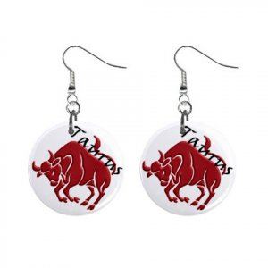 Zodiac Sign Taurus Dangle Earrings Jewelry 1 inch Buttons 12176352