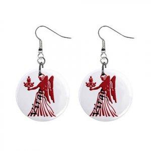 Zodiac Sign Virgo Dangle Earrings Jewelry 1 inch Buttons 12176353