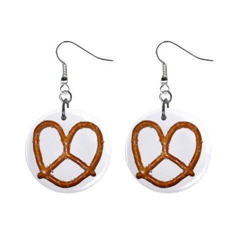 Thin Pretzel Dangle Earrings Jewelry 1 inch Buttons 12305901