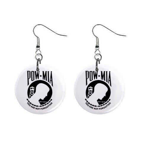 POW-MIA Dangle Earrings Jewelry 1 inch Buttons 12305943
