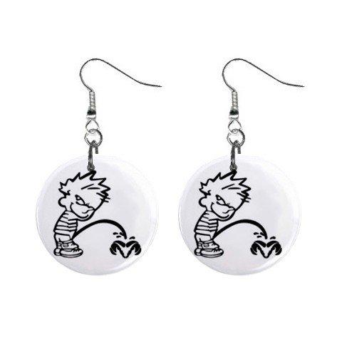 Pee On Dodge Ram Dangle Earrings Jewelry 1 inch Buttons 12305975