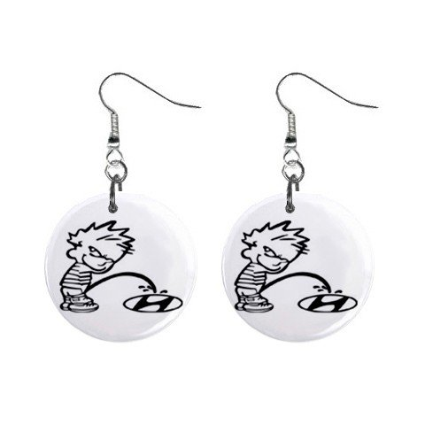 Pee On Hyundia Dangle Earrings Jewelry 1 inch Buttons 12305977