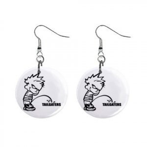 Pee On Tailgaters Dangle Earrings Jewelry 1 inch Buttons 12305978