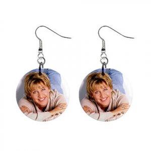 Ellen Degeneres #3 Dangle Earrings Jewelry 1 inch Buttons 12305981