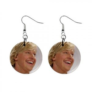 Ellen Degeneres #2 Dangle Earrings Jewelry 1 inch Buttons 12305983