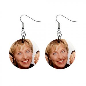 Ellen Degeneres #1 Dangle Earrings Jewelry 1 inch Buttons 12305982